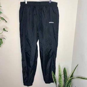 Vintage Adidas Black Windbreaker Athletic Pants